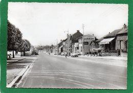 80-LONGUEAU..Café Au Bon Accueil -Garage Simca Voiture D'époque .AVENUE H.BARBUSSE.CPSM GRAND FORMAT1958 - Longueau