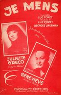 JULIETTE GRECO - JE MENS - 1953 - EXC ETAT COMME NEUF - - Musique & Instruments