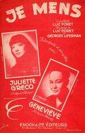 JULIETTE GRECO - JE MENS - 1953 - EXC ETAT COMME NEUF - - Música & Instrumentos