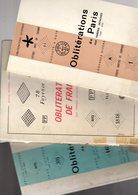 Mathieu :3 Catalogues  Oblitérations De France + Obliterations De Paris + Obliterations De France - Autres