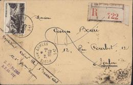Occupation De L'Allemagne Recommandé + CAD Poste Aux Armées SP 517 23 8 1950 Fribourg + SP 51 088 BPM 517 - Military Postmarks From 1900 (out Of Wars Periods)