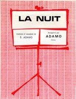 ADAMO - LA NUIT - 1964 - BON ETAT - - Musique & Instruments