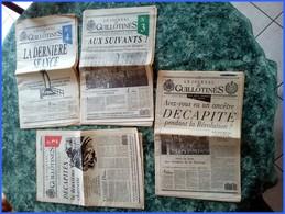 4 N° JOURNAL DES GUILLOTINES 1 à 4 RARE COMPLET REVOLUTION HISTOIRE TERREUR GENEALOGIE GUILLOTINE Noms + Condamnation - Politique