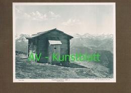 349-2 Gamskarkogelhütte Sektion Bad Gastein Lichtdruck 1908 !! - Documents Historiques
