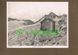 352 Rojacher Hütte Sonnblick Lichtdruck 1908 !! - Ohne Zuordnung