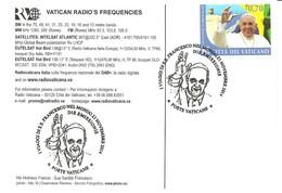 VATICANO - 2014 Viaggi Di Papa FRANCESCO Nel Mondo Nel 2013 - Annullo Fdc Su Cartolina Radio Vaticana - 2758 - Päpste