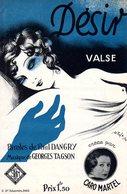 DESIR PAR CARO MARTEL - 1933 - EXC ETAT PROCHE DU NEUF- TRES BELLE ILLUSTRATION VOLUPTE ET EROTISME - Musique & Instruments