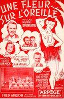 VAHINE POLYNESIE TAHITI TIARE - UNE FLEUR SUR L'OREILLE - 1946 - GEORGETTE PLANA - EXC ETAT PROCHE DU NEUF - Musique & Instruments