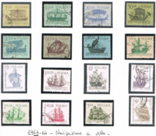 POLONIA (POLAND) - YV  1241.1256  - 1963.1964  SAILINGS SHIPS (COMPLET SET OF 16)    - USED° - RIF. CP - Usati