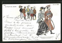 Künstler-AK Zar Nikolaus II. Von Russland Auf Der Haager Friedenskonferenz 1899 - Königshäuser