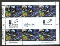 SLOVENIA 2020,,SPORT,SKI FLYING WORLD WEEK CHAMPIONSHIPS PLANICA 2020,SHEET,MNH - Jumping