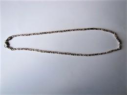 Collier En Argent - Poinçon 925 AK - Longueur : 20 Cm Fermé - Colliers/Chaînes