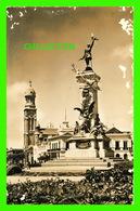 LIMA, PERU - PLAZA BOLOGNESI, MONUMENTO, FRANCISCO BOLOGNESI CON IGLESIA MARIA AUXILIAD- SWISS-FOTO - FAUCETT-AIRLINES - - Perú
