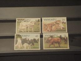 VANUATU - 1984 BOVINI 4 VALORI  - NUOVI(++) - Vanuatu (1980-...)