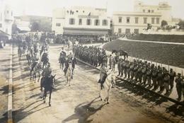 MAROC Superbe Photo , Cérémonie Militaire - Guerre, Militaire