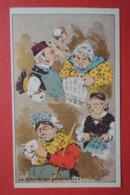 CHROMO Romanet. Groupe De Têtes En Caricature.Pipelet.Concierge.Plumeau. Le Petit Journal. La Discrétion Personnifiée - Trade Cards