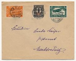ALLEMAGNE - Enveloppe Affranchissement Composé Aviation + Bayern Surchargé - 1922 - Lettres & Documents