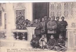 Post Card Mission De Chi-zau (Chine) à La Sortie De Eglise De Moncay (Tonkin)  Editor Fievet N° 28 - Cina