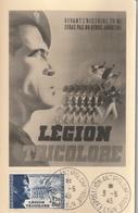Carte Maximum - Exposition Antibolchévique  - Légion Tricolore 1943 - France