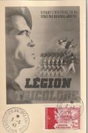 Carte Maximum - Exposition Antibolchévique  - Légion Tricolore LYON  1943 - France
