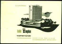 "WARNEMÜNDE Bei Rostock 1a-graphische Privat-Karte 1971 "" Hotel Neptun "" - Rostock"