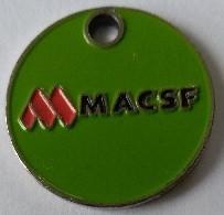 Jeton De Caddie - MACSF - Mutuelle D'assurances Du Corps De Santé Français - En Métal - - Munten Van Winkelkarretjes