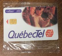 CANADA LOGO QUEBECTEL PHONECARD NEUVE CARD 10$ PUBLIQUE QUEBEC CARTE TÉLÉPHONIQUE LAPUCE - Canada