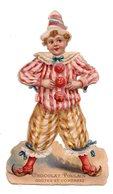 Chocolat Poulain. Chromos. Découpis.  Clown. Cirque Enfant. - Poulain