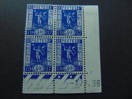 Magnifique Coin Daté Du N°. 324** De 1936 - Coins Datés