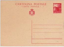 1945 - LUOGOTENENZA - CARTOLINA POSTALE DA  LIRE 3 - NUOVA - - 5. 1944-46 Luogotenenza & Umberto II