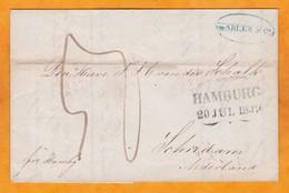 1849 - Folded Letter In Dutch From Elseneur, Helsingør, Denmark To Schiedam, Netherland Via Hamburg, Germany - Danimarca