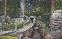 CARTE ALLEMANDE - GUERRE 14-18 - VOSGES - VOGESEN - TRANCHÉE ALLEMANDE BIEN CONÇUE - Guerre 1914-18