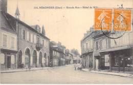18 - NERONDES Grande Rue - Hotel De Ville ( Commerces - Bazar - Tabac ) CPA Village (1.520 Habitants ) Cher ( Berry ) - Nérondes