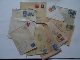 Dates Diverses  - ENVELOPPES LETTRES - Lot De 10 - Toutes Ouvertes - Marcophilie (Lettres)