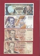 Equateur 13  Billets 2 En UNC --20000 Et 5000 Sucres Et 11 Dans L 'état - Equateur