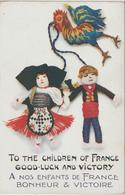 Illustrateur  : Nenette ?  Rintintin ? , Coq , Alsace , Good Luck And  Victory , Children  France - Illustrators & Photographers