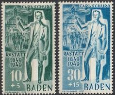 Baden Français 1949 N° 50 Carl Schurz MH (F19) - Französische Zone
