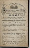 Souvenir Mortuaire BREDART Sophie (1783-1872) Ep. DAZIN Ph. Morte à ROUBAIX - Santini
