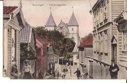 STAVANGER 1909  HETLANDSGADEN SENT TO BERLIN 1436 Mp - Norvège