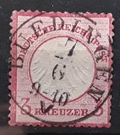 Deutsches Reich Allemagne 1872, Aigle Yvert No 9 ,  3  Kreuzer Rose Carmine Obl BUEDINGEN, TTB - Germany