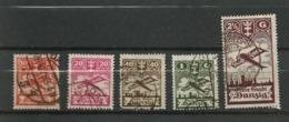 Danzig  1924 Mi.Nr.: 202-206 Air Mail Issue Set Cancelled O - Danzig
