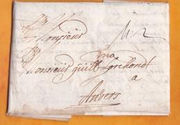 1691 - Folded Letter In Flemish From Vienna, Austria / Wien, Österreich To Anvers,Antwerp, Belgique/Belgium - ...-1850 Vorphilatelie