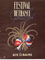 1951 GRAND FORMAT RARE PROGRAMME CASINO AIX LES BAINS Les Compagnons De La Chanson B.E.VOIR SCANS - Programmes