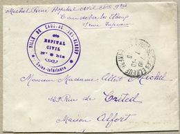 VILLE DE CAUDEBEC-LES-ELBEUF * Seine-Inférieure * HOPITAL CIVIL N° 9 Bis 1916 - Guerre De 1914-18