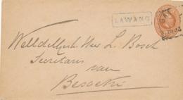 Nederlands Indië - 1893 - 10 Cent Willem III, Envelop G6 Van L LAWANG In Kader Naar Besoeki - India Holandeses