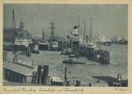 SHIPPING - HAMBURG - NIEDERHAFEN UND UBERSEEBRUCKE  T415 - Altri