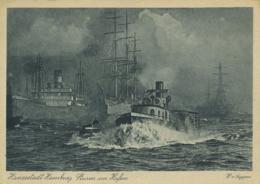 SHIPPING - HAMBURG - STURM IM HAFEN T416 - Altri
