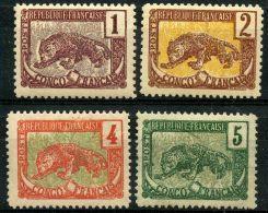 Congo (1900) N 27 à 30 * (charniere) - Neufs