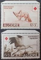 R2740/140 - 1957 - COLONIES FR. - ALGERIE - CROIX ROUGE - N°343 à 344 NEUFS** BdF - Ongebruikt