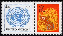 United Nations - New York - 2020 - Lunar New Year Of The Rat - Mint Personalized Stamp - Nuovi